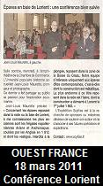 Ouest France, 18 mars 2011